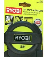 RYOBI - RTM25 - Tape Measure with Overmold and Wireform Belt Clip - 25 ft. - $19.75