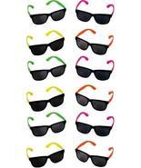 Rhode Island Novelty Assorted Neon Sunglasses, Pack of 12 - $9.69