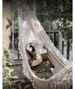 New Outdoor Indoor macrame Garden Cotton Hanging Air/Sky Chair Swing Ham... - $88.11
