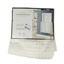 "Threshold Tiered Window Curtain Light-Filtering Honeycomb White 42"" W 63"" L - $14.95"