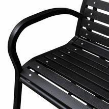 vidaXL Garden Bench Steel Porch Patio Park Path Chair Outdoor Deck Seating image 3