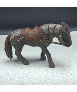 SCHLEICH WAR HORSE ANIMAL toy silver chains saddle am limes 69 Gmund D-7... - $19.75