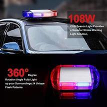 126 LED Strobe-Warning-Lights-Bar 12V Rotation Flashing Beacon Emergency Light M image 7
