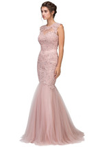 Cut Out Back Floor Length Mermaid-Style Sleeveless Gown - $277.00