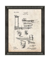 Doctor's Laryngoscope Patent Print Old Look with Black Wood Frame - $24.95+