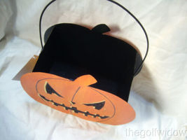 Bethany Lowe Jack O Lantern Tin Candy Container Halloween image 3