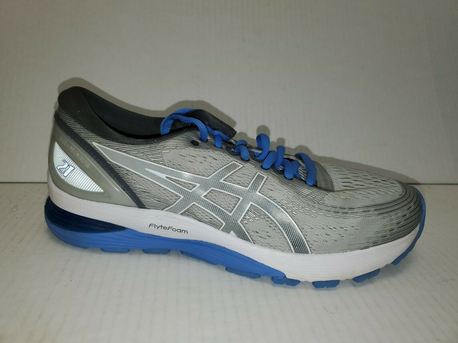 Primary image for Asics Gel Nimbus 21 Women's Blue Gray Running Tennis Shoes sz 9 1012A156