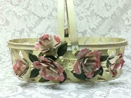 Vintage, One of a Kind, Beautiful, Good Quality Floral Metal Basket - $28.45