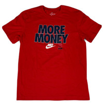 Nike 'More Money' Classic Logo T-Shirt Men's Size Medium Red Blue White ... - $24.74