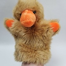"Vintage 1981 Gund Tan Furry Orange Bill Blue Eyed Duck Chick Hand Puppet 8"" - $39.55"