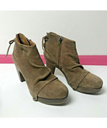COCLICO Wood Clogs Ankle Boots BOOTIES $425 Tan Leather Anthropologie Sh... - $39.60