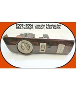 2003-2006 Lincoln Navigator Headlight Dimmer and Pedal Switch W/ Woodgra... - $34.60