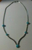 Sarah Coventry Silver-tone Faux Turquoise Necklace - $24.74
