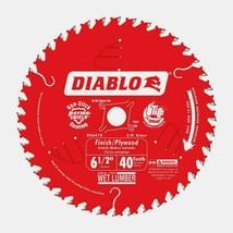 """Diablo 6.5"""" Finishing SAW BLADE 40 Teeth Carbide Tip Titanium Non-Stick ... - $25.53"""