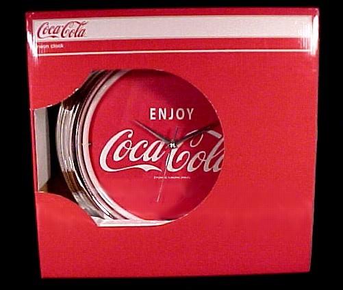 Coke Coca Cola Neon Clock Wall Sign Advertising New in Box.