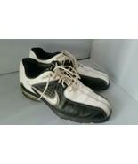Donna Nike Air Bianco Nero Golf Tacchetti Scarpe 7.5 - $40.48