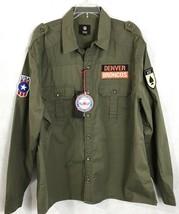 Denver Broncos Mens NFL Military Shirt NEW 100% Cotton Team Logo Patches L,XXL - $58.08