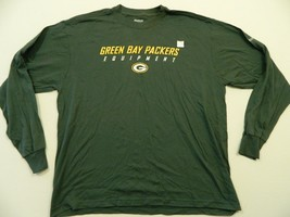 M73 New Reebok Green Bay Packers Nfl Equipment Long Sleeve Shirt Men's Sizes - $18.95