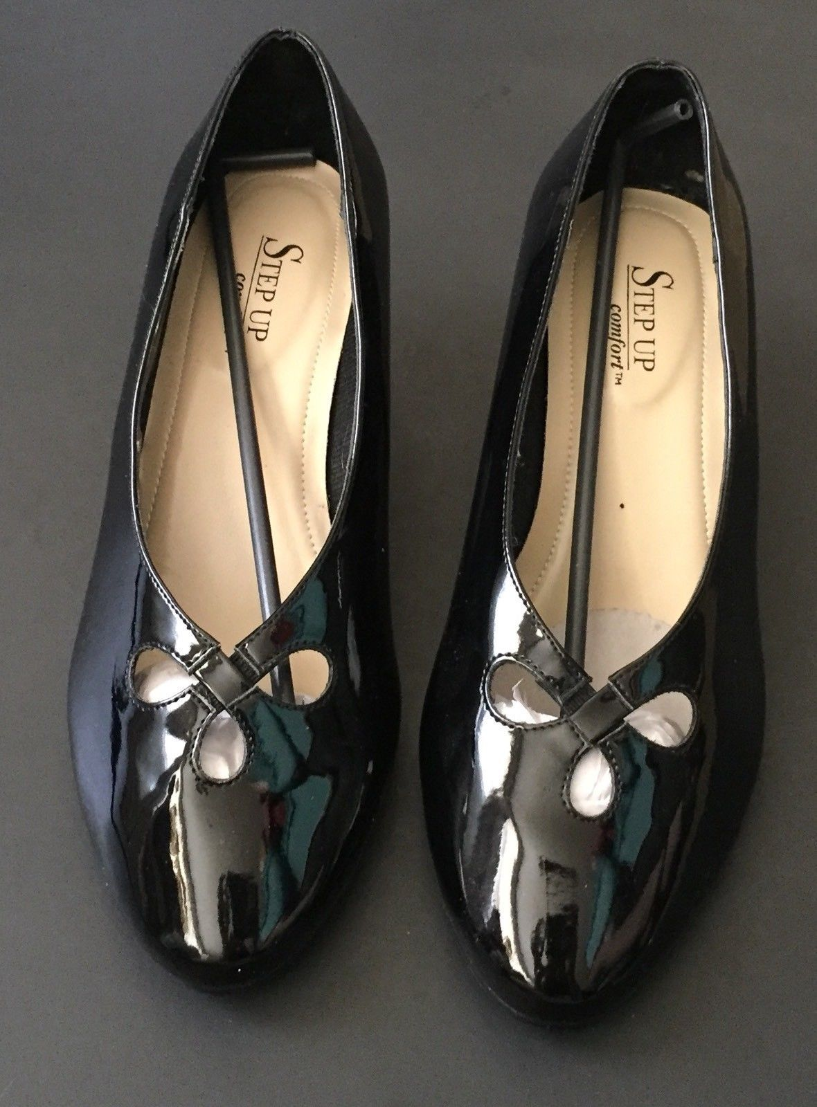 961934a6c91 Step Up Comfort Black Faux Patent Leather and 50 similar items