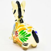 Handcrafted Painted Ceramic White Zebra Confetti Ornament Made in Peru image 3