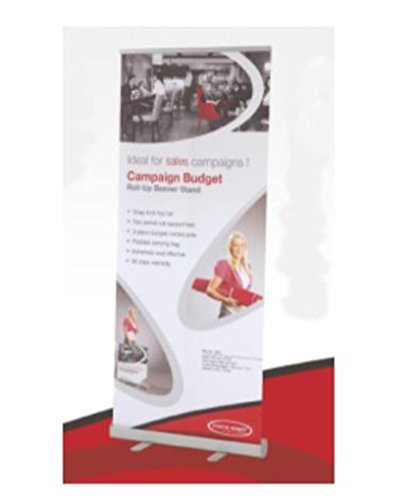 "Econo Roll Up Retractable Banner Stand with Custom Printed 33-7/16"" wide x 78-1/"
