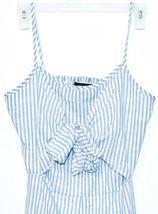 ONEBYEONE Women's Blue White Pinstripe Sleeveless Jumpsuit Playsuit Size S image 3