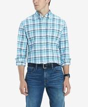 Tommy Hilfiger Men's Finch Custom-Fit Stretch Plaid Twill Shirt, Size L,... - $32.71