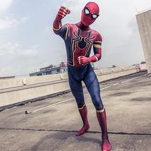 Spider-Man Infinity War Avengers 3 Kids Child Cosplay Costume Spiderman Jumpsuit - £33.12 GBP
