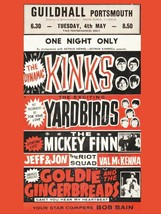 Art print POSTER /Canvas Kinks Yardbirds Guildhall Portsmouth - $3.95+