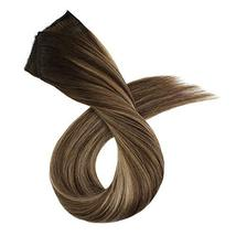 Ugeat 18inch One Piece Hair Extensions Clip in Real Human Hair #4/27/4 Balayage  image 4
