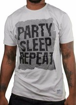 Bench Mens Party Sleep Repeat Light Gray Crewneck Graphic Cotton T-Shirt