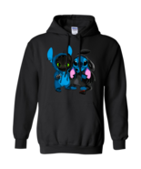 Stitch And Toothless We Are Best Friends G185 Black Hoodie 8 oz - $32.50+