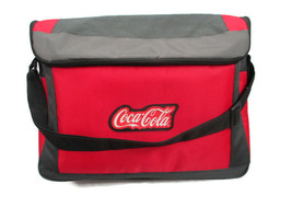 Coca-Cola Shoulder Tote Cooler Bag Gray & Red w/ Rubber Patch - BRAND NEW - $19.79
