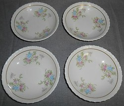 Set (4) Hanover China SPRING TIME PATTERN Fruit or Dessert Bowls - $19.79