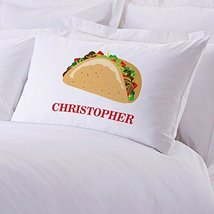 Personalized Direct Personalized Taco Pillow Case - $8.99
