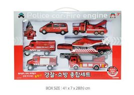 Fire Fighting Department Die-Cast Car Helicopter Tow Ladder Truck Vehicle Toy image 8