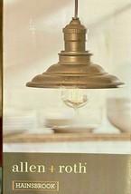 Allen + Roth Hainsbrook Pendant Light 16in *16in *7.1 40,6cm X 40,6cm x18cm - $96.74