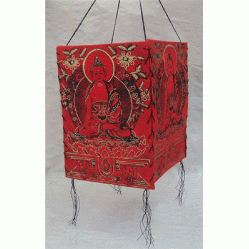 Primary image for Natural Lokta Paper Shakyamuni Buddha Lamp Shade-Red Color,NEPAL