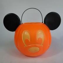 Vtg Mickey Mouse Plastic Blow Mold Trick or Treat Halloween Bucket Gener... - $29.69