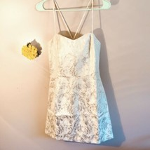 Gold and Cream Formal mini Dress Size Medium - $44.55