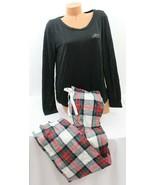 Victoria's Secret Lounge Pajama Set, Black Love / White Plaid, sizes XS ... - $42.72+