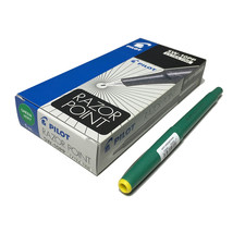 RAZOR POINT SW-10PP Extra Fine GREEN Marker Pen (Pack of 12),Pilot, for ... - $24.99