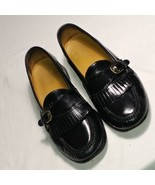 COLE HAAN 03518 BLACK LEATHER KILTI MONK STRAP SLIP ON LOAFERS SIZE 11.5 D - $22.49