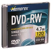 Memorex 4.7GB DVD-RW Media (Single) (Discontinued by Manufacturer) - $6.99