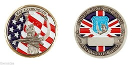 RAF LAKENHEATH ROYAL AIR FORCE USA UK FLAG UNITED KINGDOM CHALLENGE COIN - $17.14