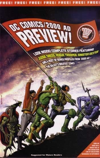 Primary image for 2000 A.D.-DC COMICS- PREVIEW-JUDGE DREDD-ROGUE TROOPER