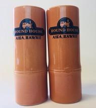 2 Round House Aiea Hawaii Tiki Bamboo Style Tall Shot Glass Cup Daga Sou... - $13.49