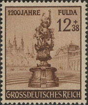 1944 Fulda Palace Germany Postage Stamp Catalog Number B270 MNH