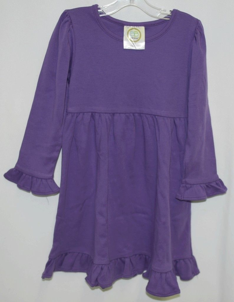 Blanks Boutique Long Sleeved Color Purple Ruffle Dress Size 3T