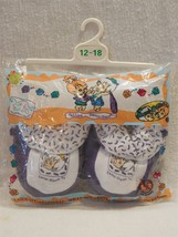 Flintstones 1995 Cave Kids Bamm-Bamm Rubble Slippers Size 12-18 MIP - $7.95